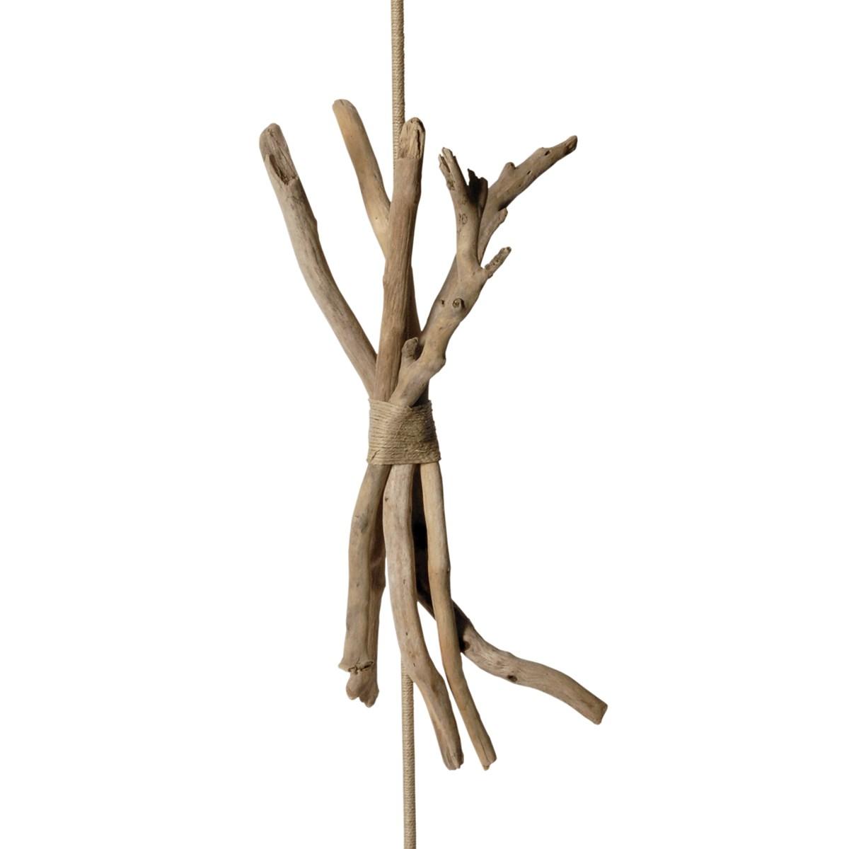 Lampadaire en bois taupe