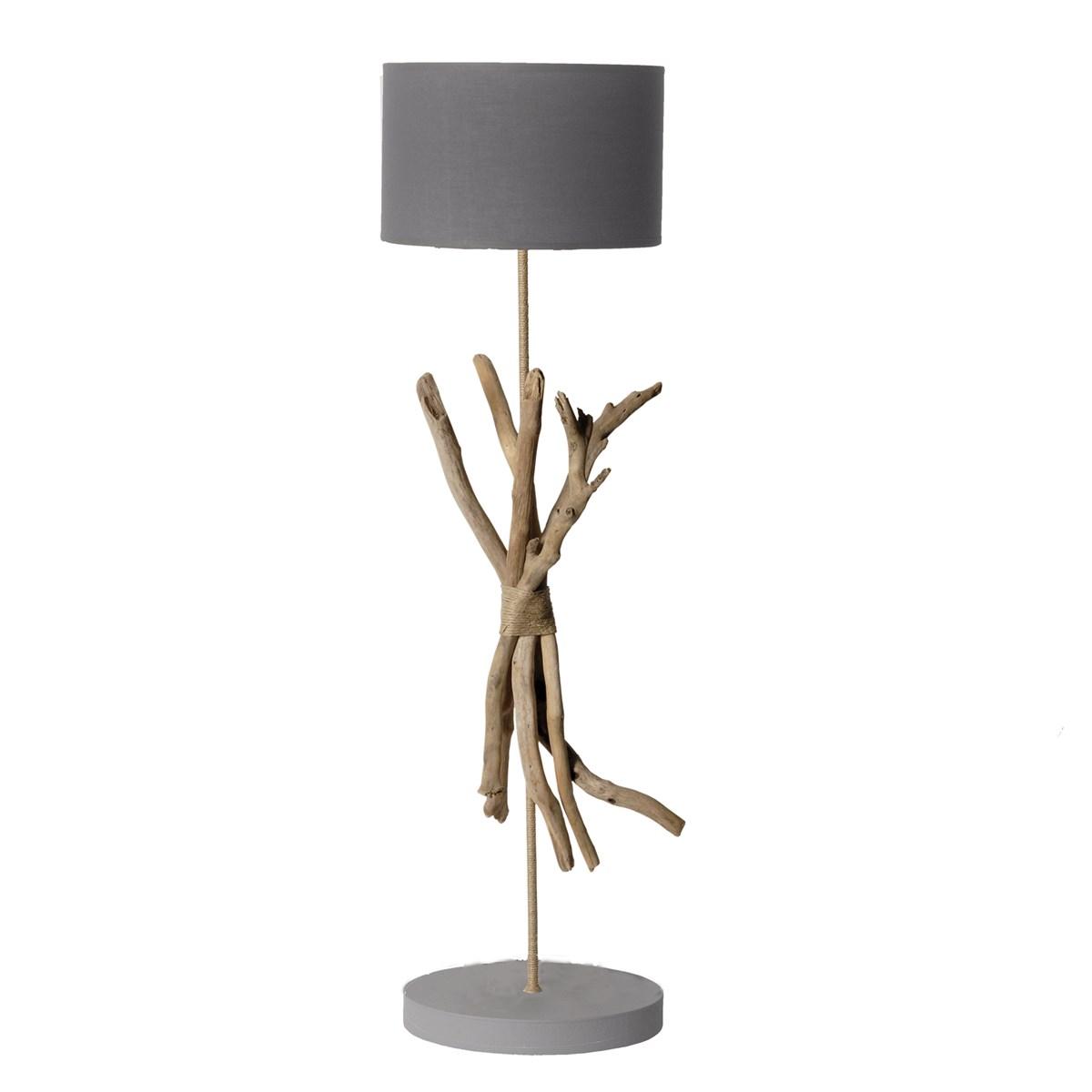 Lampadaire en bois gris