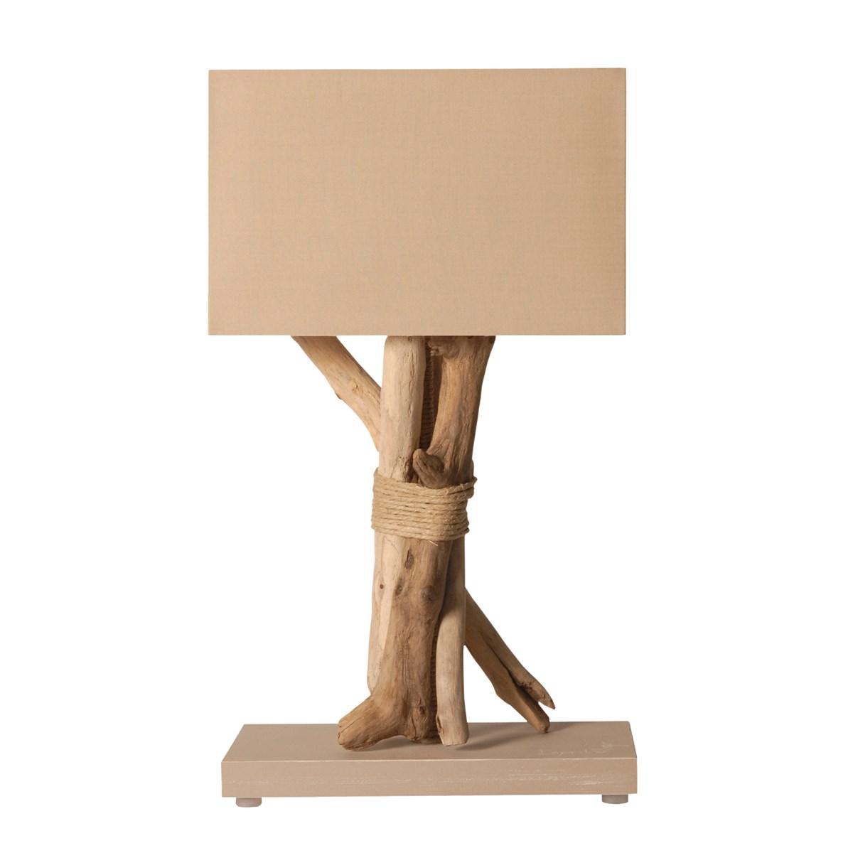 Lampe à poser en bois taupe