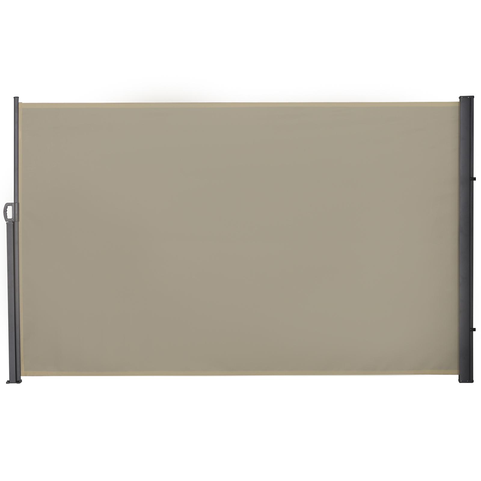 Store latéral brise-vue rétractable alu. polyester haute densité