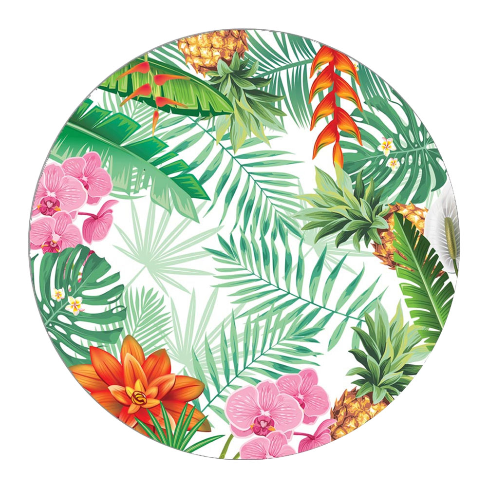 Set de table rond orchidées et feuilles D38cm