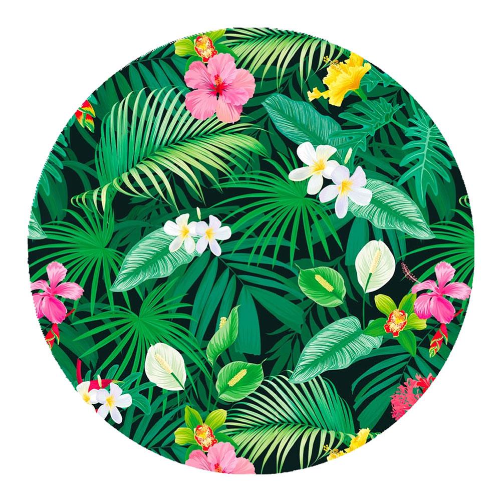 Set de table rond hibiscus et feuilles D38cm