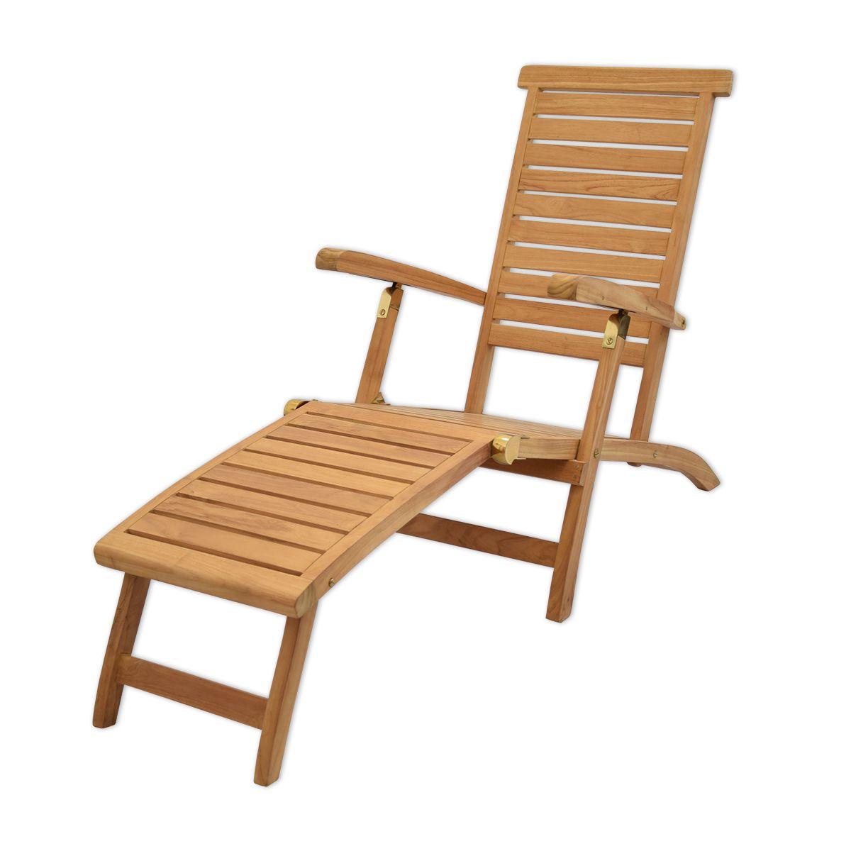 Chaise longue en teck
