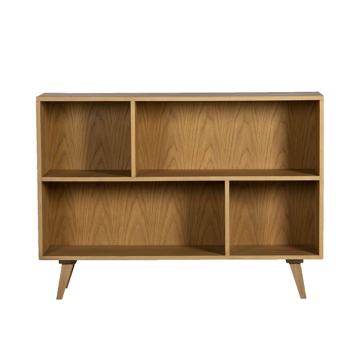 Bibliothèque basse étagère à poser bois clair