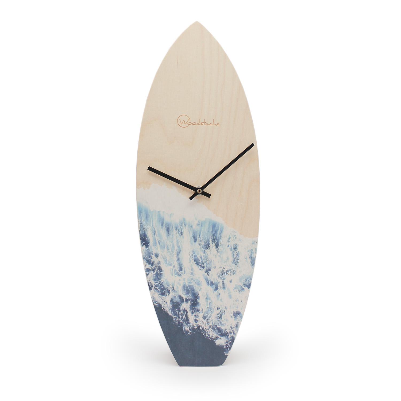 Horloge surf en bois océan H46,2cm