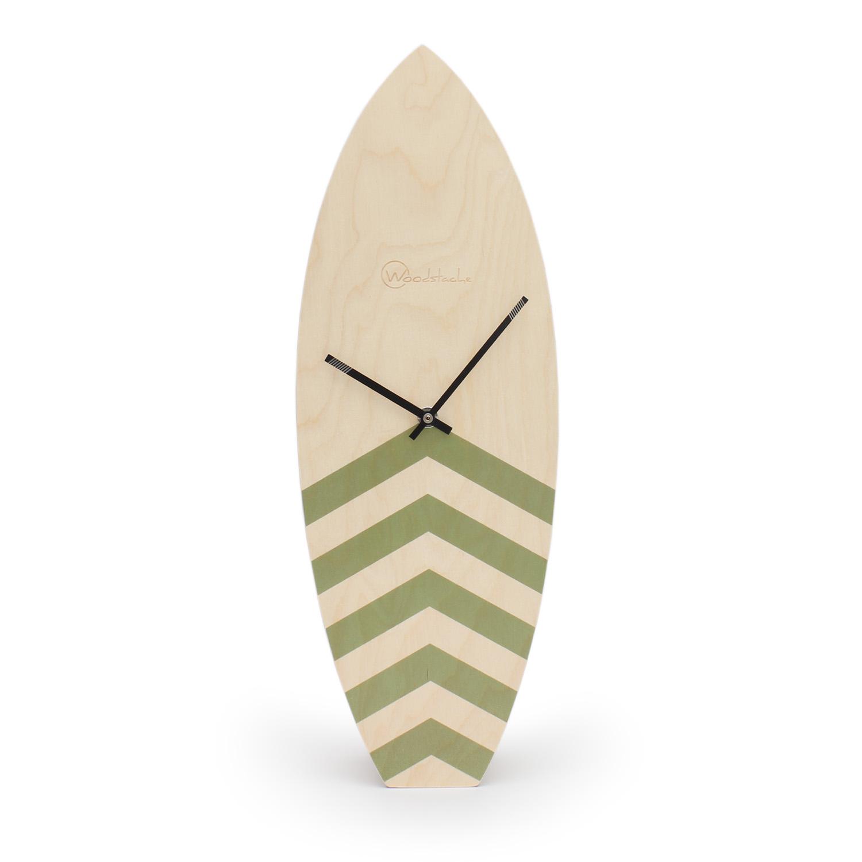 Horloge surf en bois kaki H46,2cm