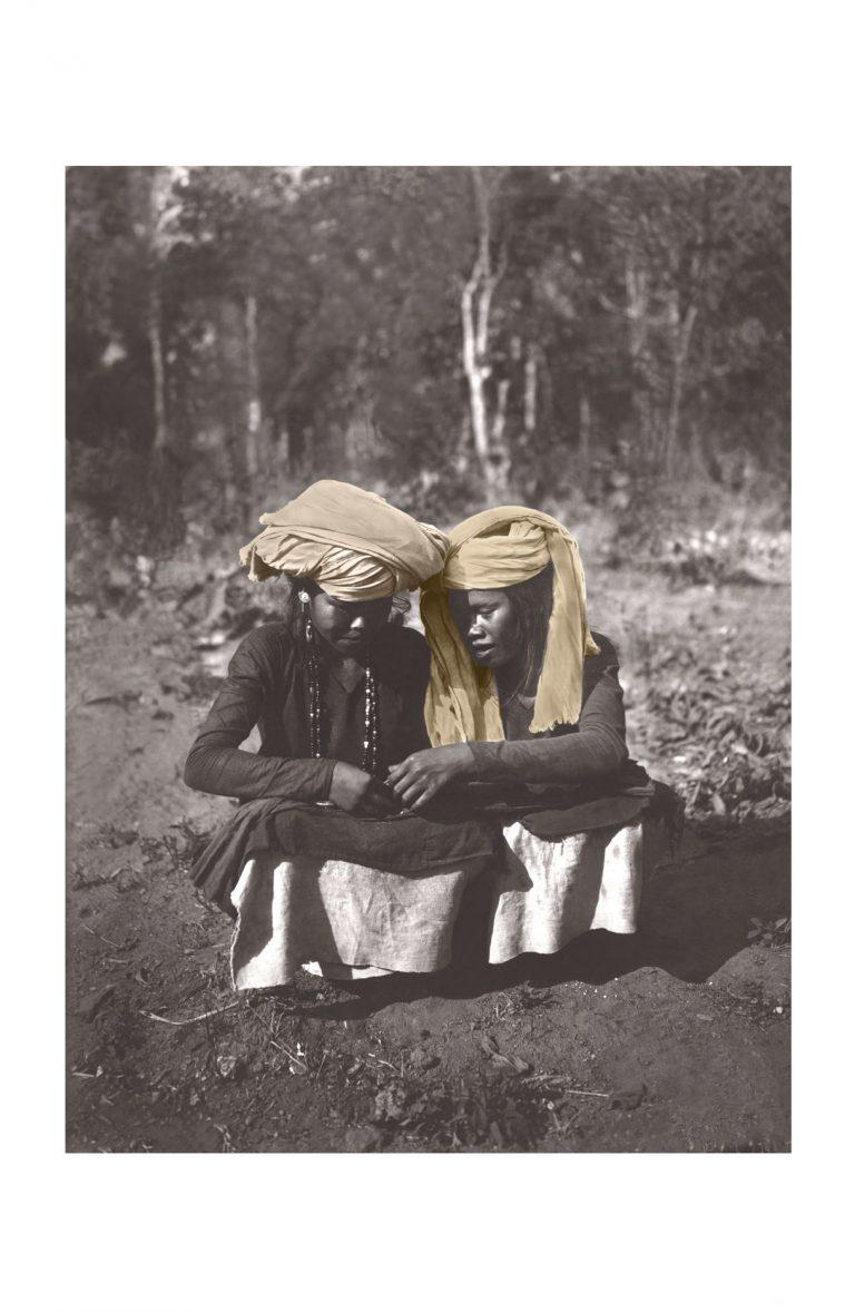 Photo ancienne couleur voyage n°02 cadre noir 70x105cm
