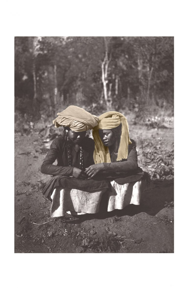 Photo ancienne couleur voyage n°02 cadre noir 30x45cm