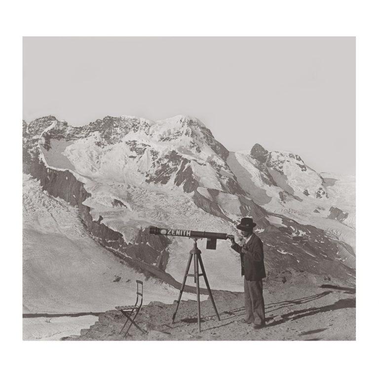Photo ancienne noir et blanc montagne n°59 cadre noir 100x100cm