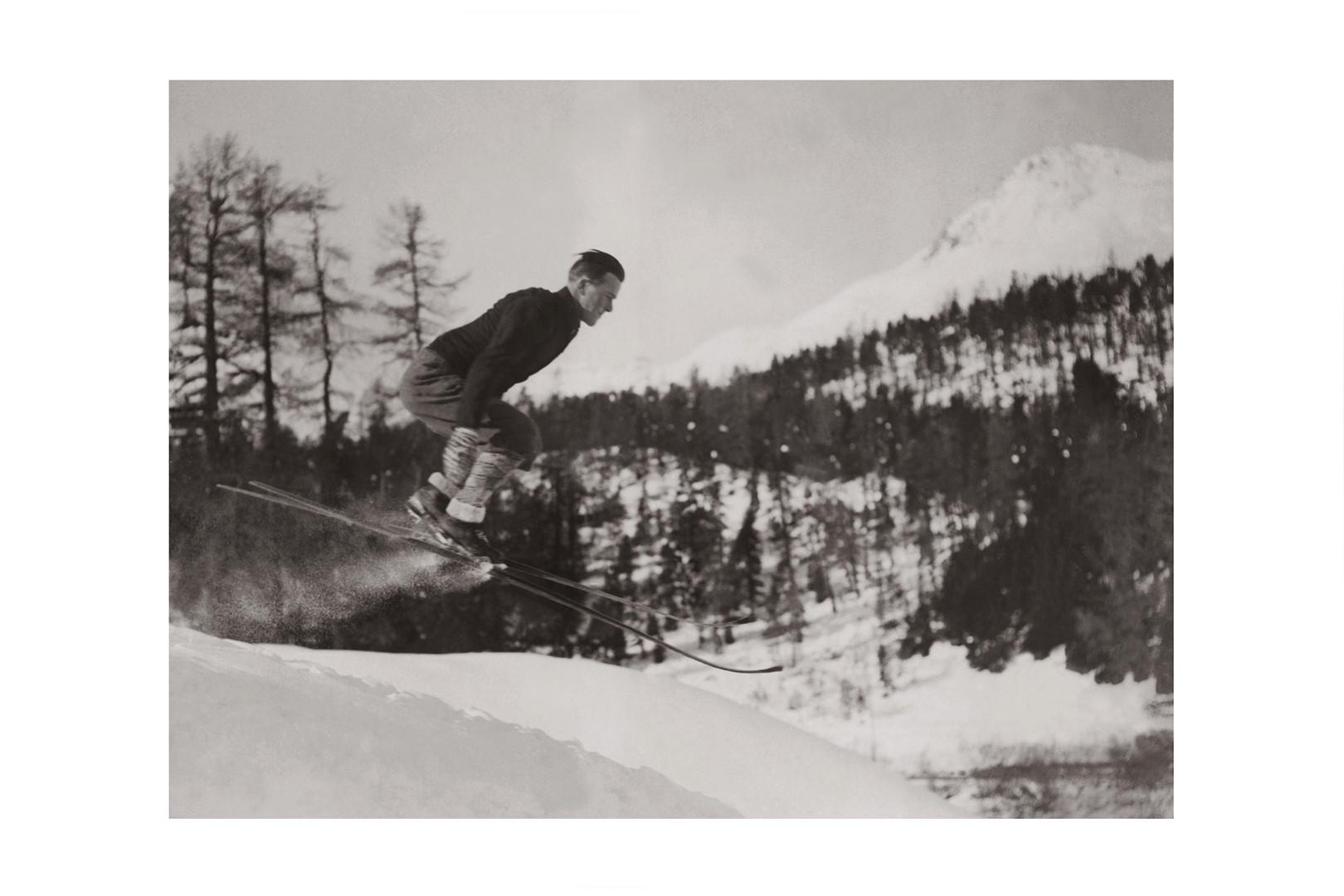 Photo ancienne noir et blanc montagne n°78 cadre noir 30x45cm