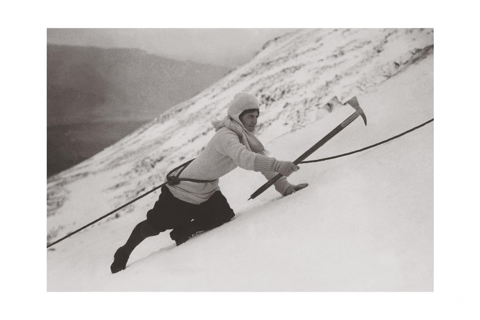 Photo ancienne noir et blanc montagne n°103 cadre noir 30x45cm