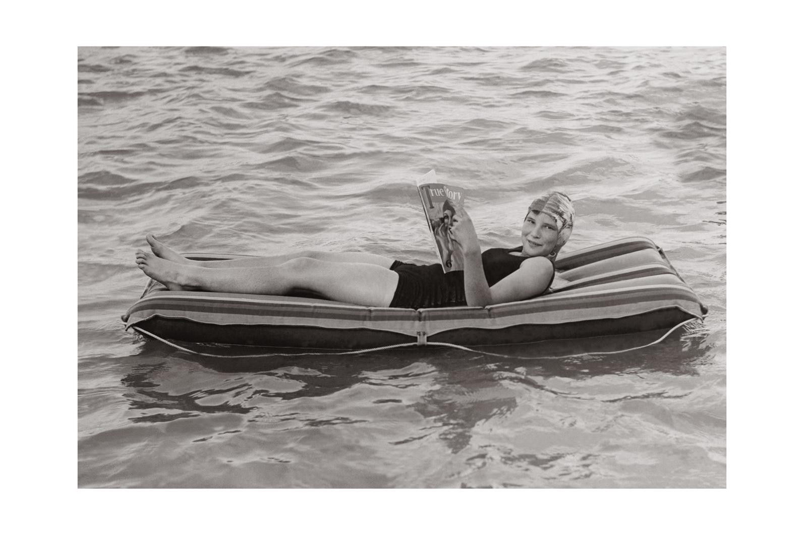 Photo ancienne noir et blanc mer n°79 cadre noir 30x45cm
