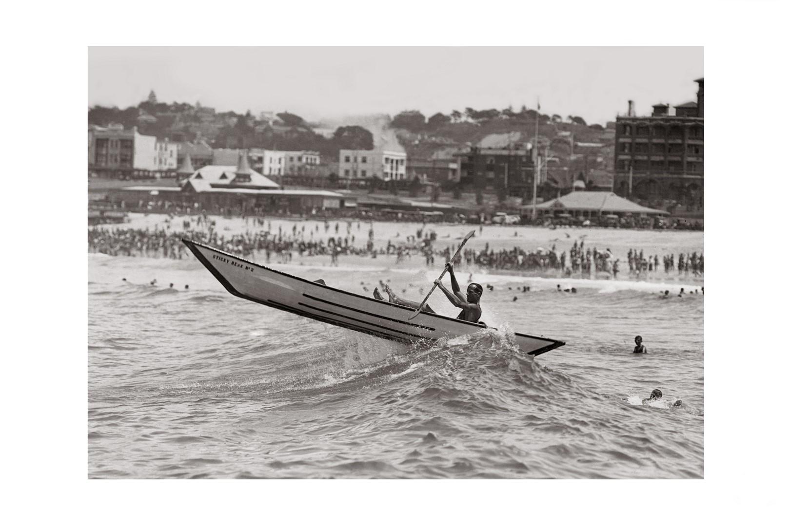 Photo ancienne noir et blanc mer n°46 cadre noir 30x45cm