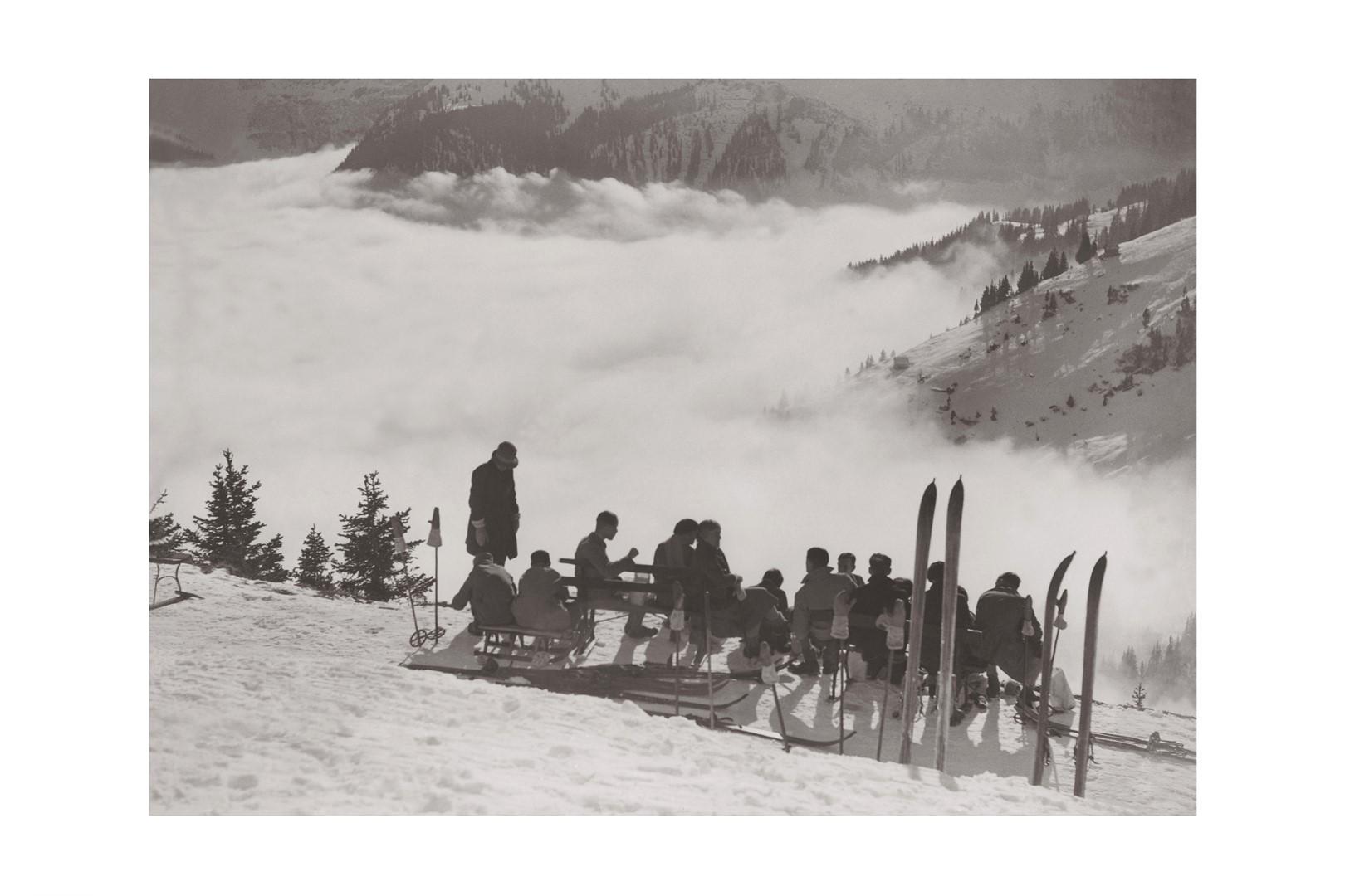 Photo ancienne noir et blanc montagne n°88 cadre noir 60x90cm