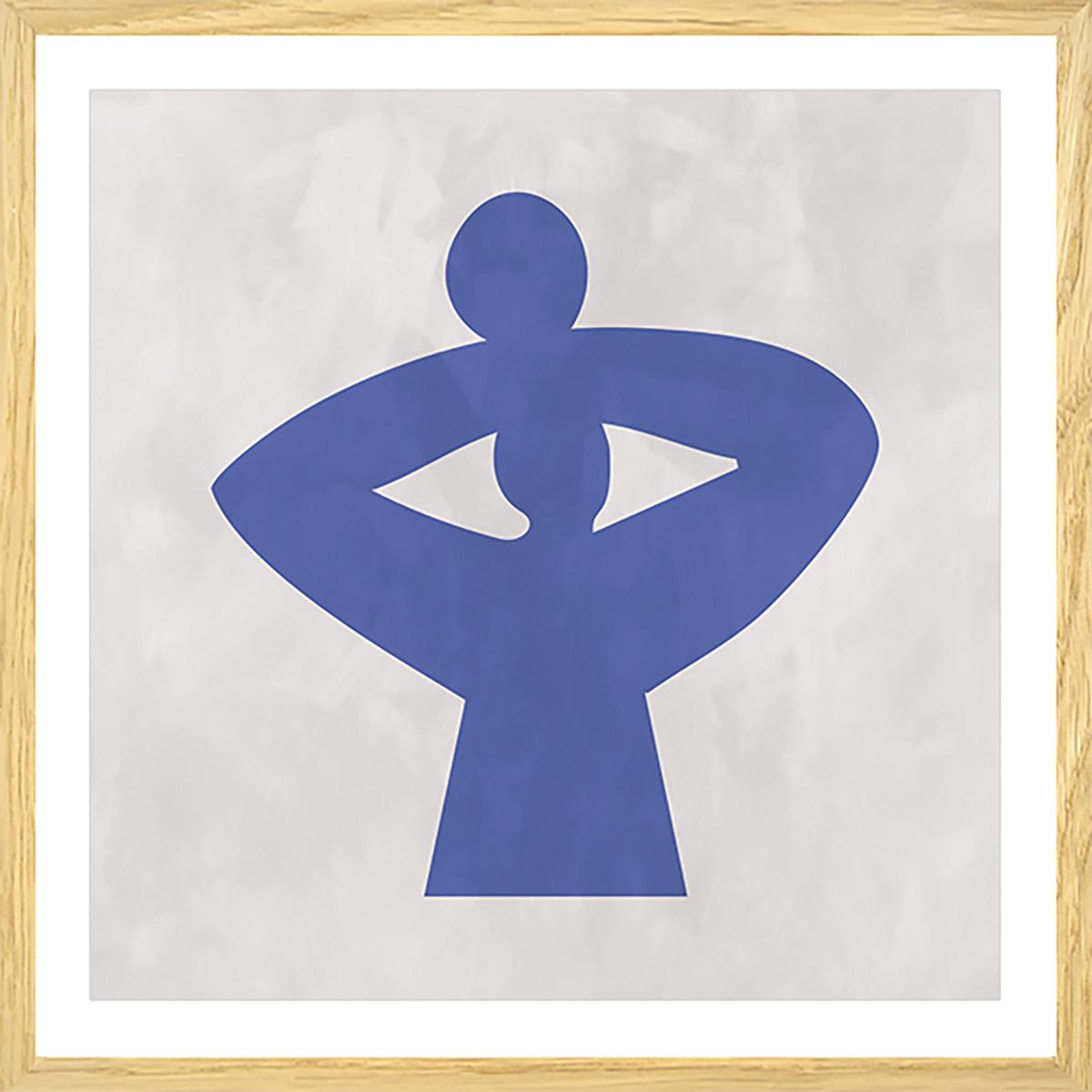 Affiche courbe grecque Affiche sous cadre bois