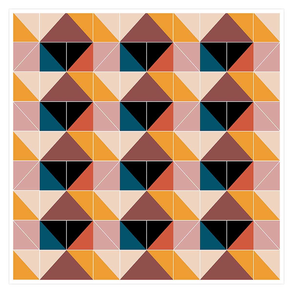 Affiche patchwork scandinave Affiche seule
