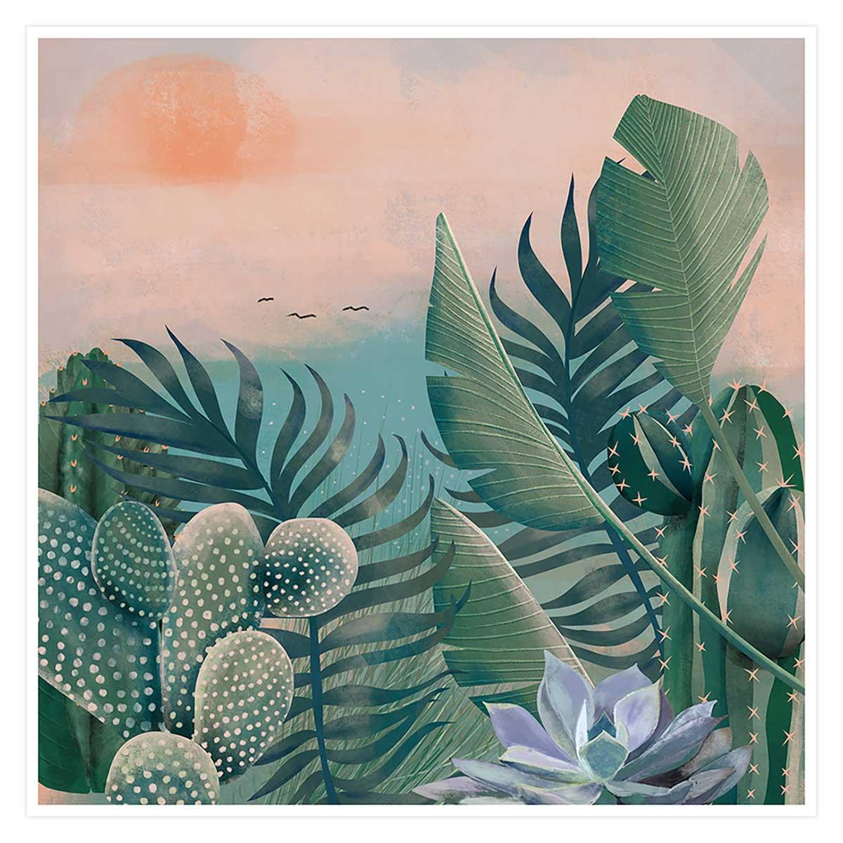 Affiche illustration jardin succulentes et cie Affiche seule