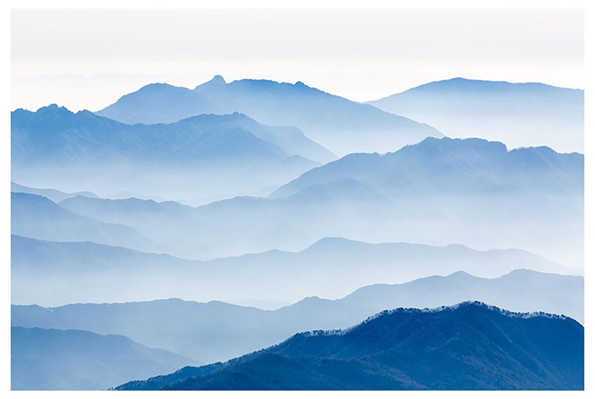 Affiche paysage montagnes bleues Affiche seule