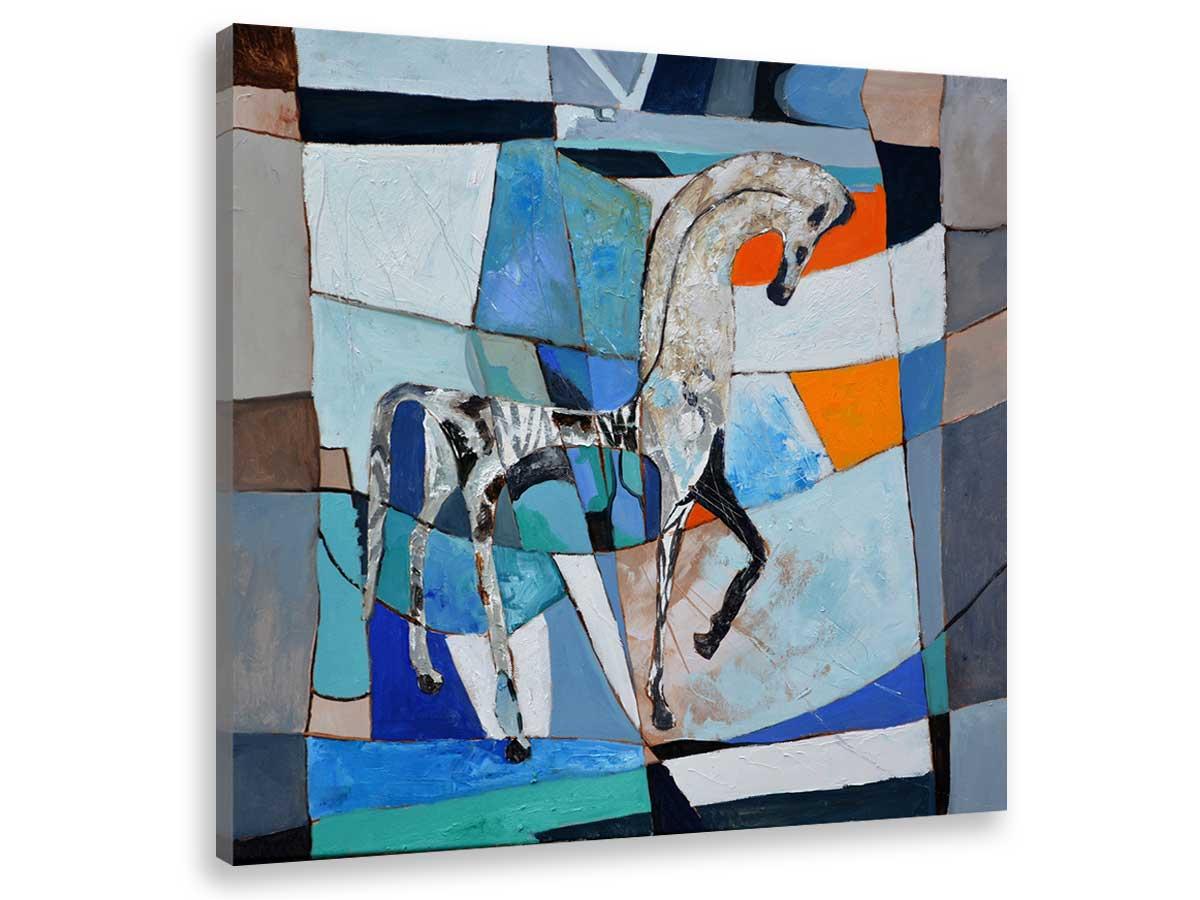 Tableau abstrait cheval grec ancien Toile imprimée