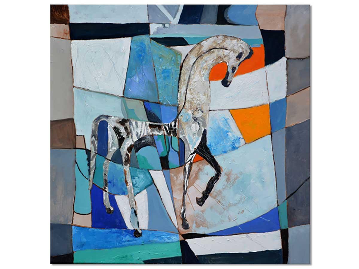 Tableau abstrait cheval grec ancien Tableau alu Dibond