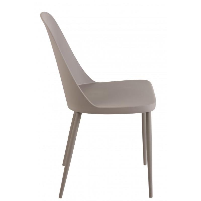 Chaise polypropylene gris H80cm