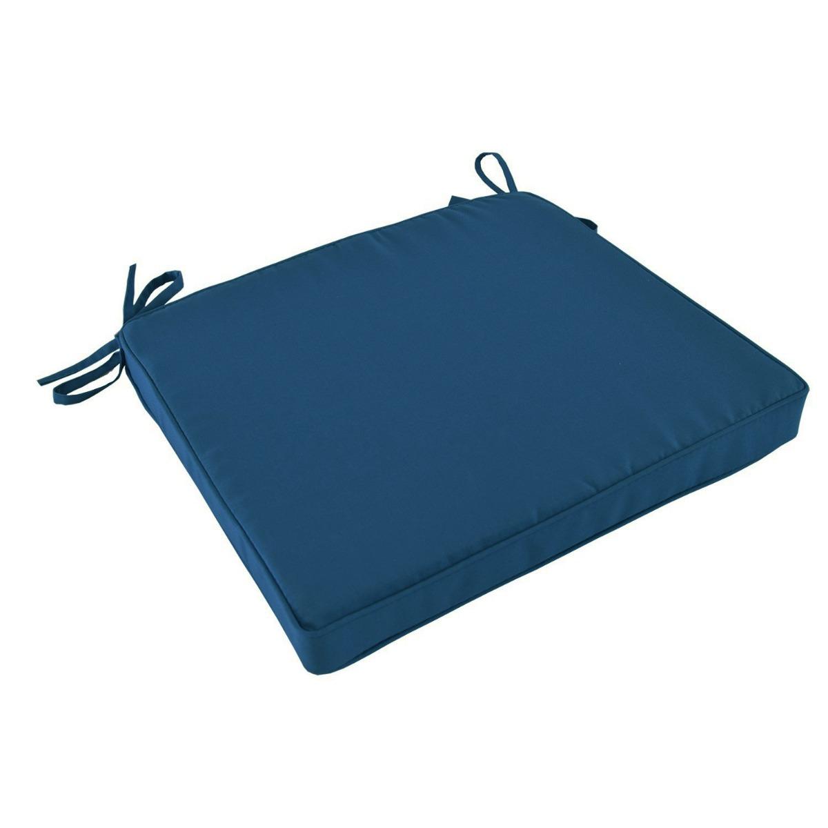 Coussin bleu marine pour chaises et fauteuils pliants