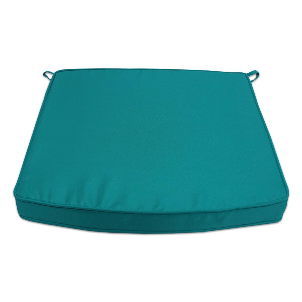 Coussin bleu canard pour fauteuils fixes