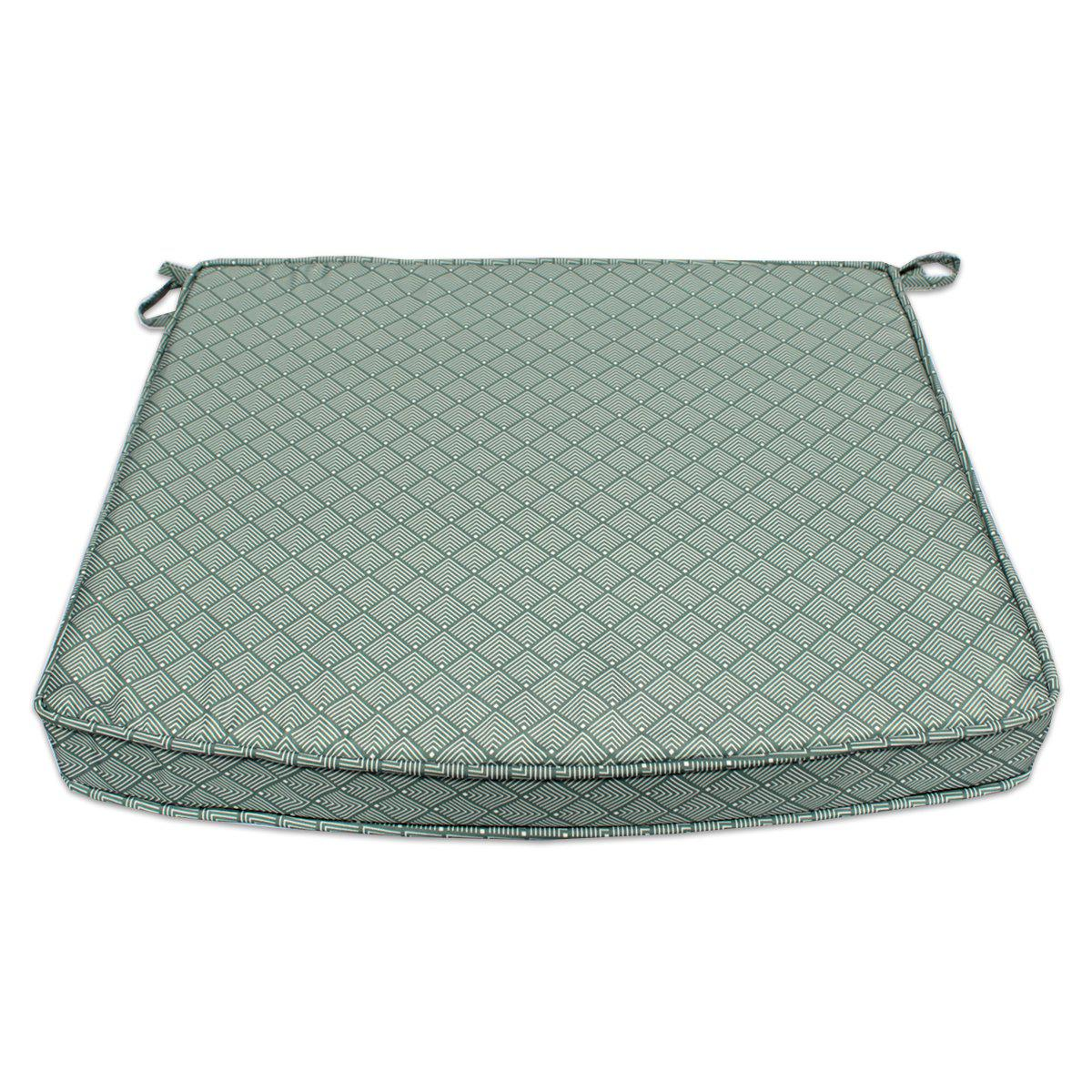 Coussin à motifs gris/blanc pour fauteuils fixes