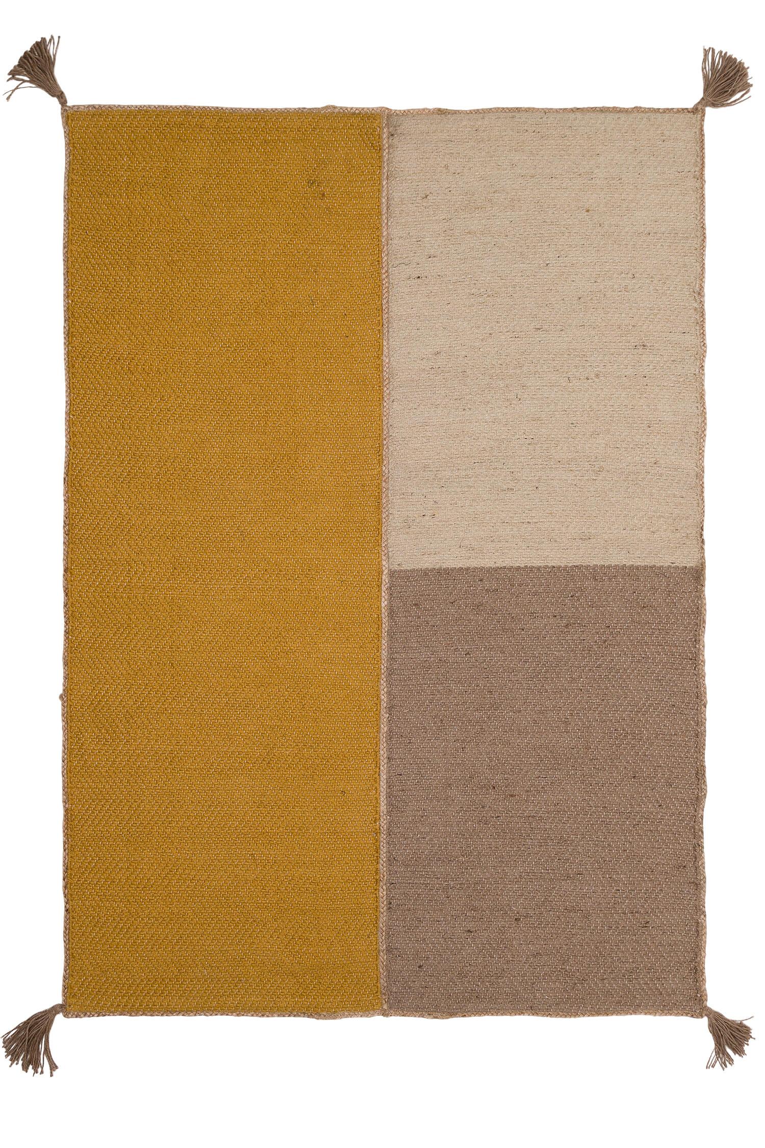 Tapis dune safran 160x230