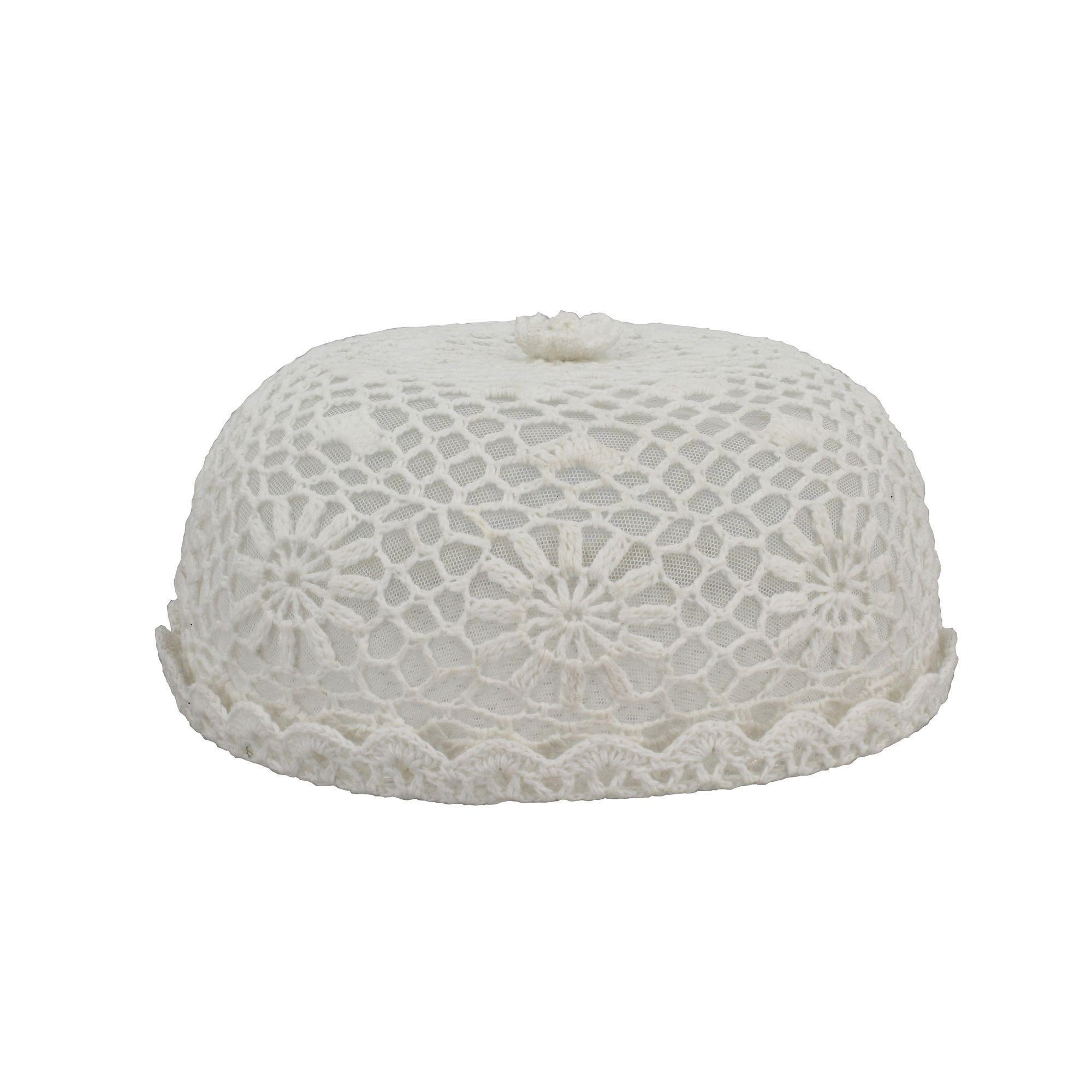 Cloche à gâteaux en crochet fait main D33cm
