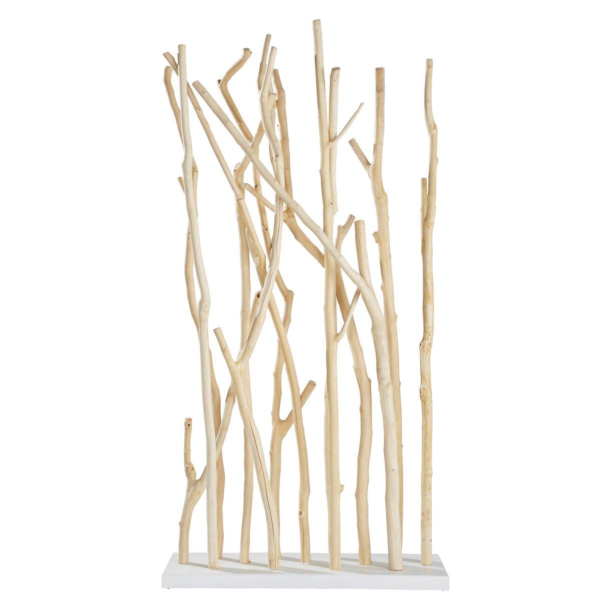 Séparation décoration en branche de teck