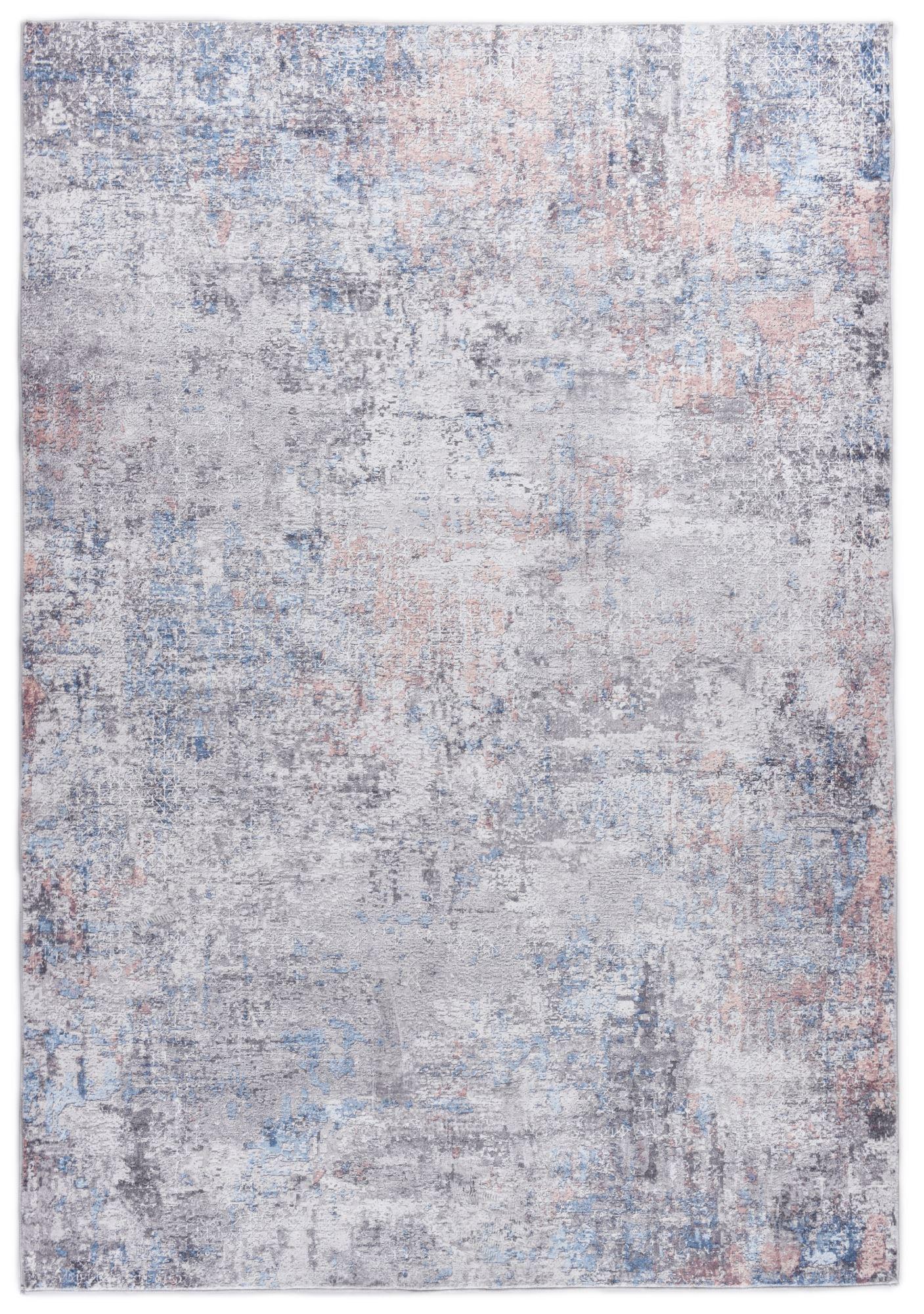 Tapis imprimé - gris multicolore 70x140 cm