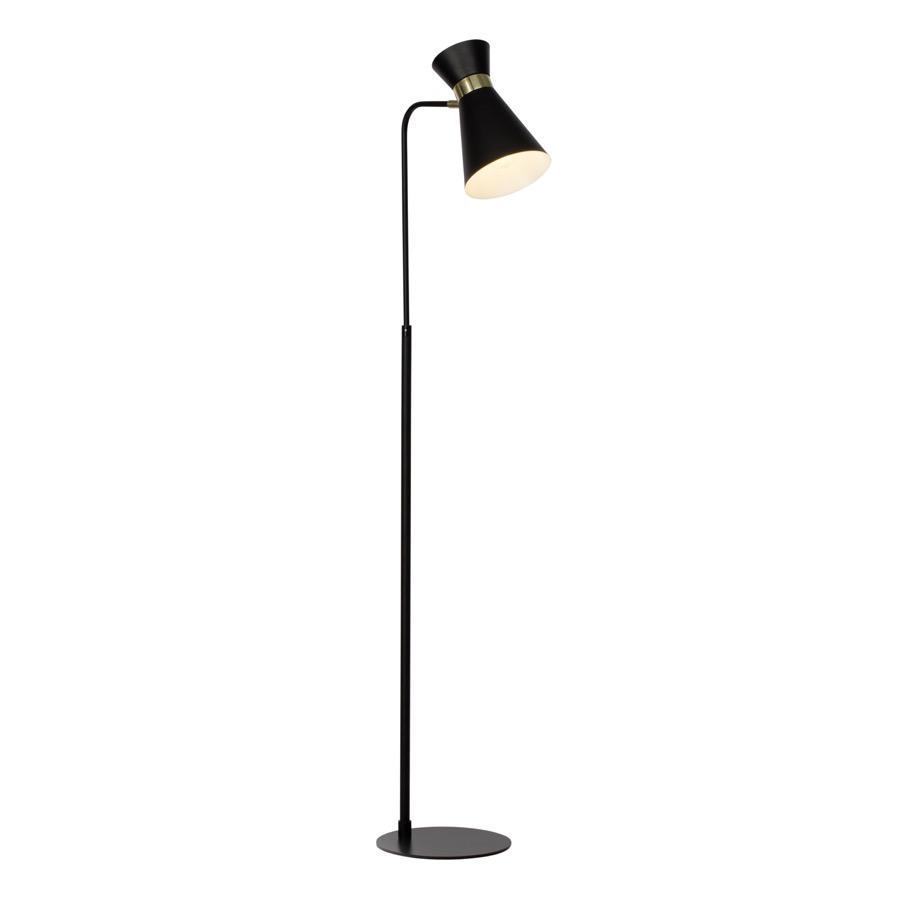Lampadaire métal noir H148,5cm
