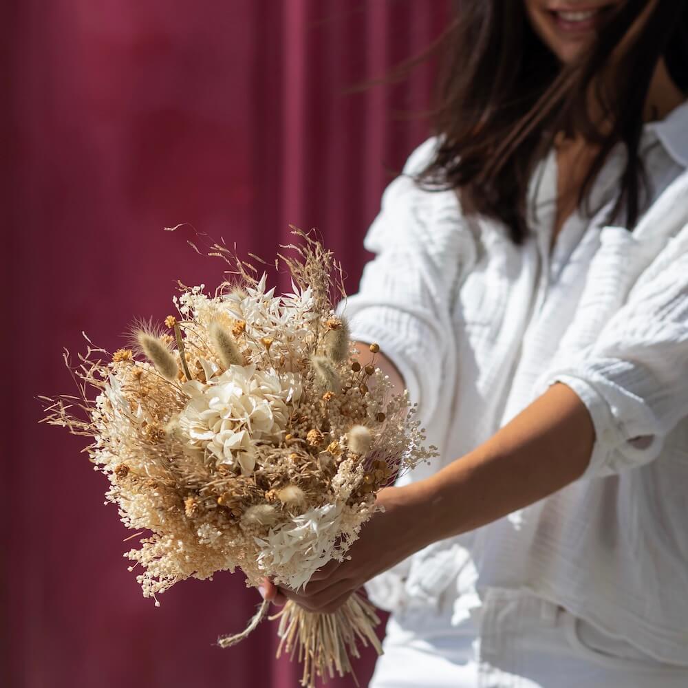 Bouquet fleurs séchées Côme S