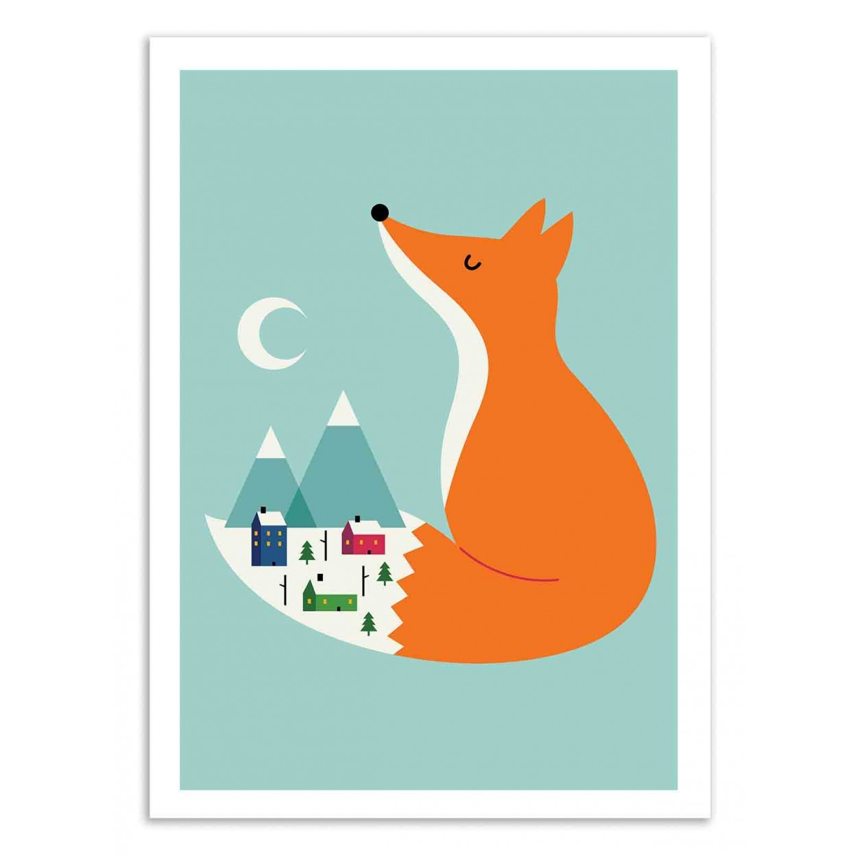 WINTER DREAMS - Affiche d'art 50 x 70 cm