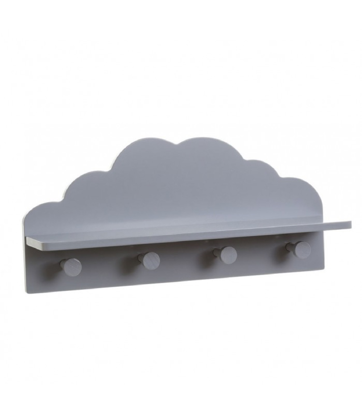 Portemanteau mural enfant gris nuage