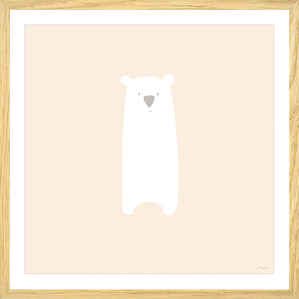 Affiche enfant grizzly mimi Affiche sous cadre bois