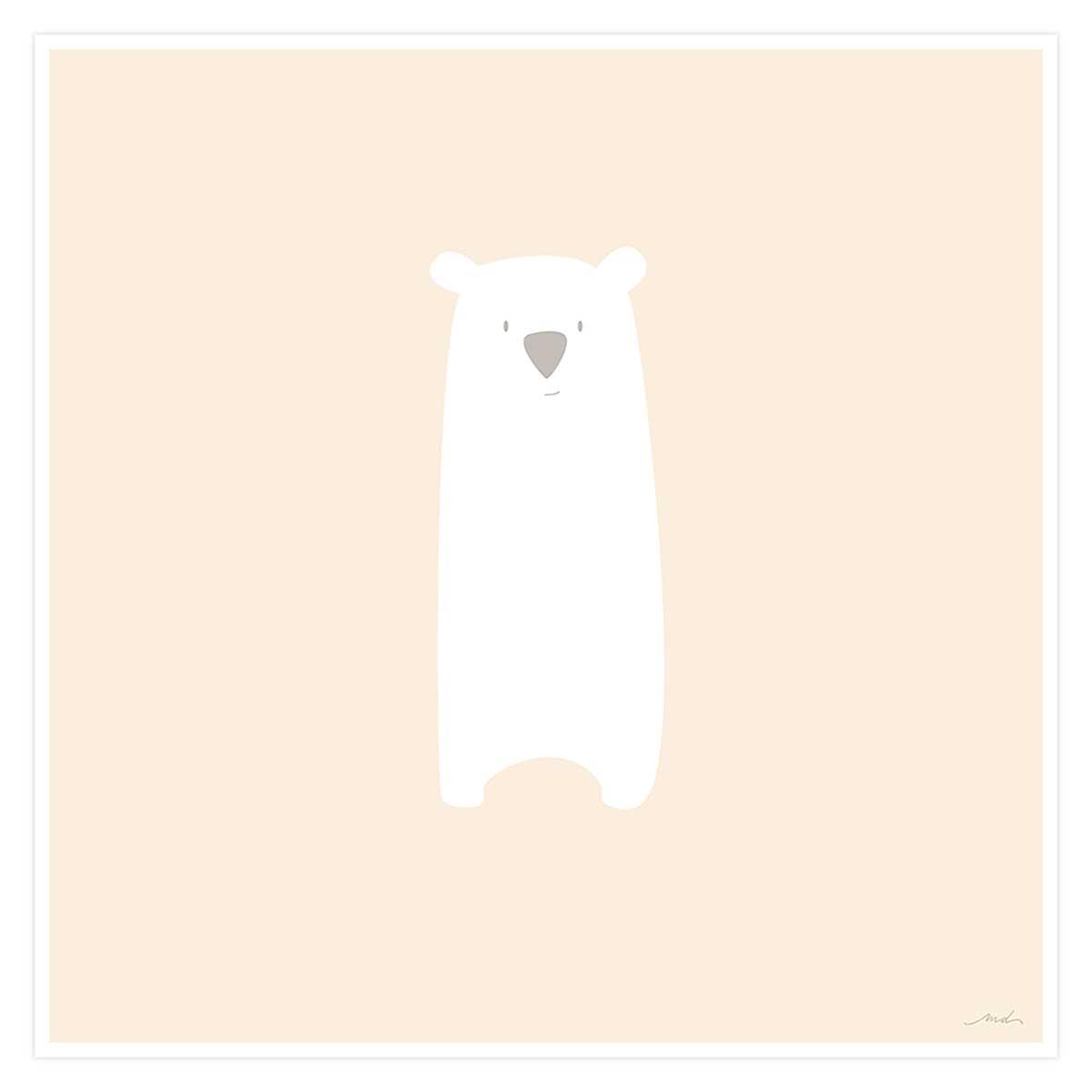 Affiche enfant grizzly mimi Affiche seule