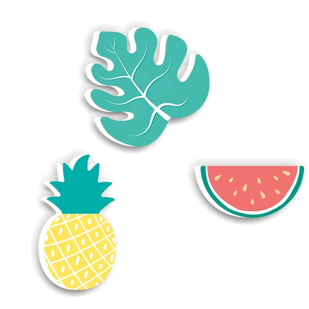 Crochets patères enfants ananas pastèque - Lot de 3