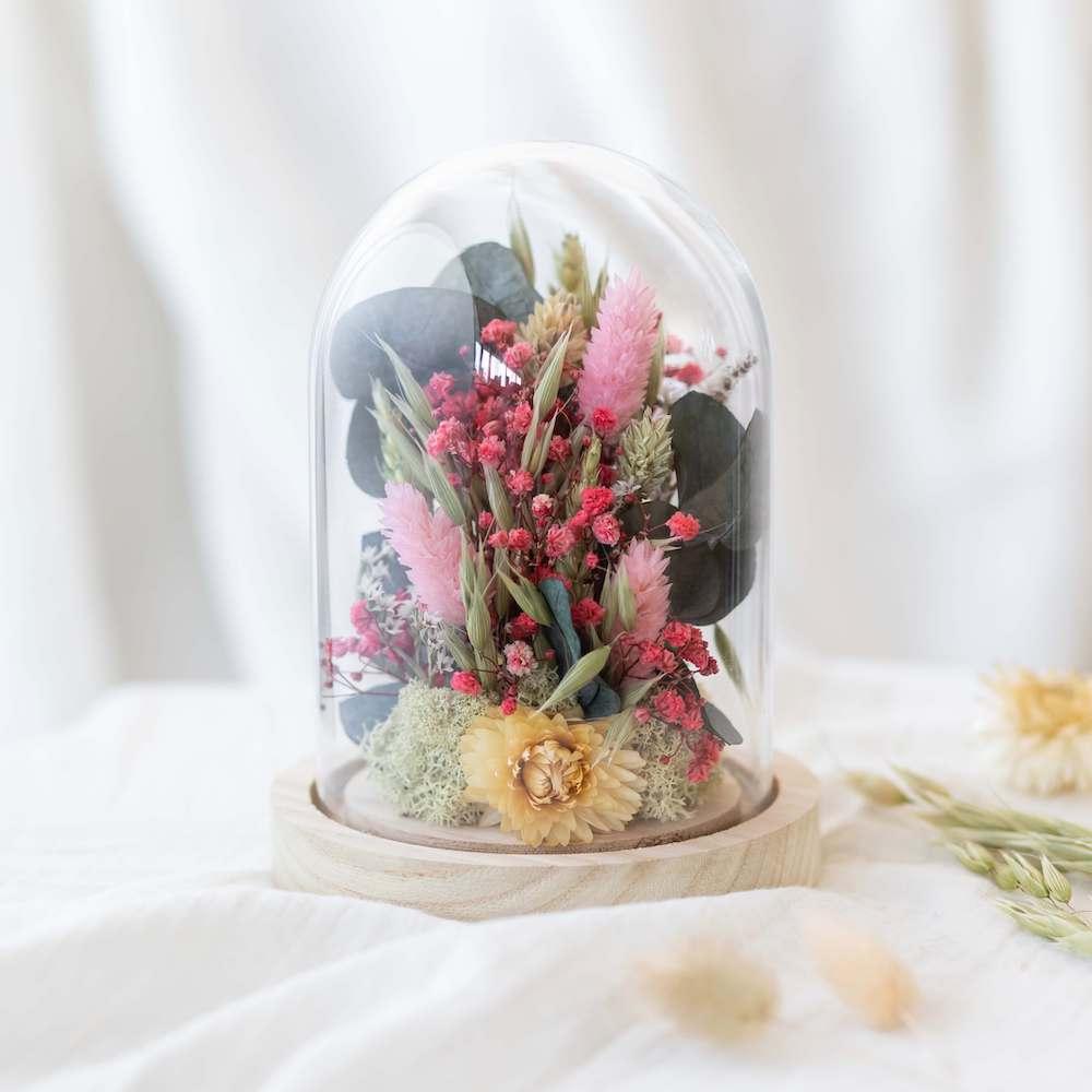 Cloche fleurs séchées Hector H16cm