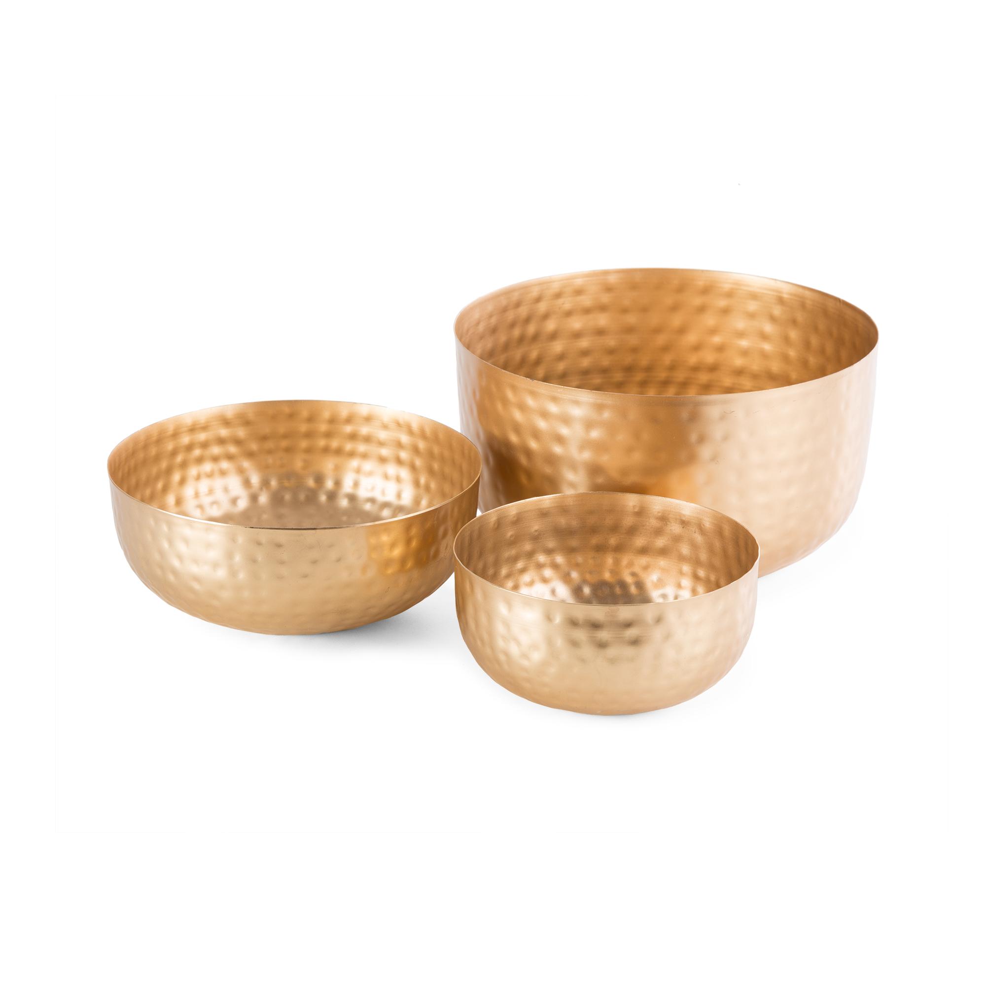 Coupelles en métal doré - Lot de 3