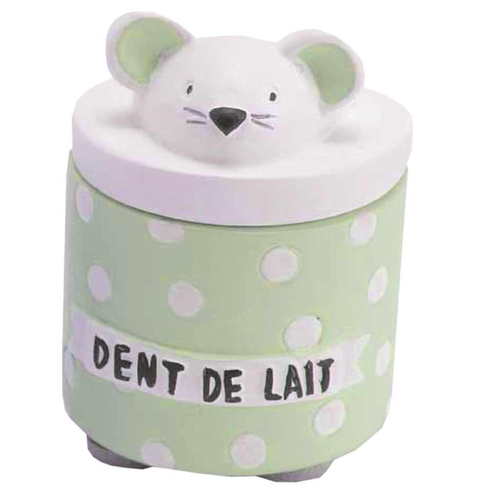 Petite boite à dents de lait verte