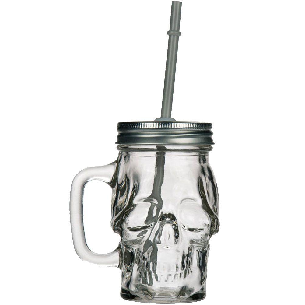 Bock en verre avec paille