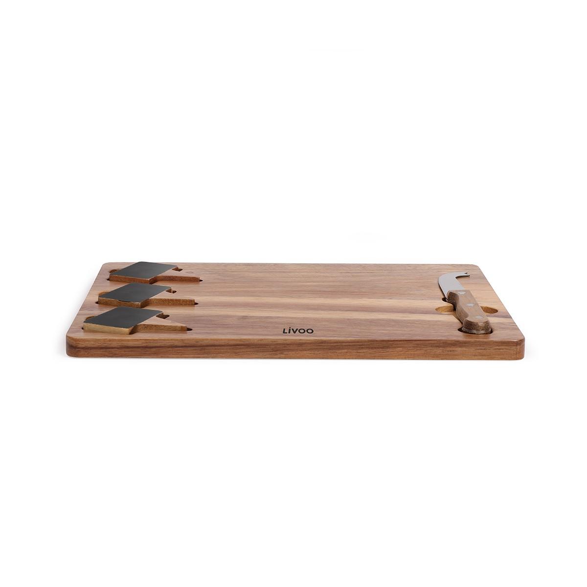 Plateau à fromage en acacia en bois marron