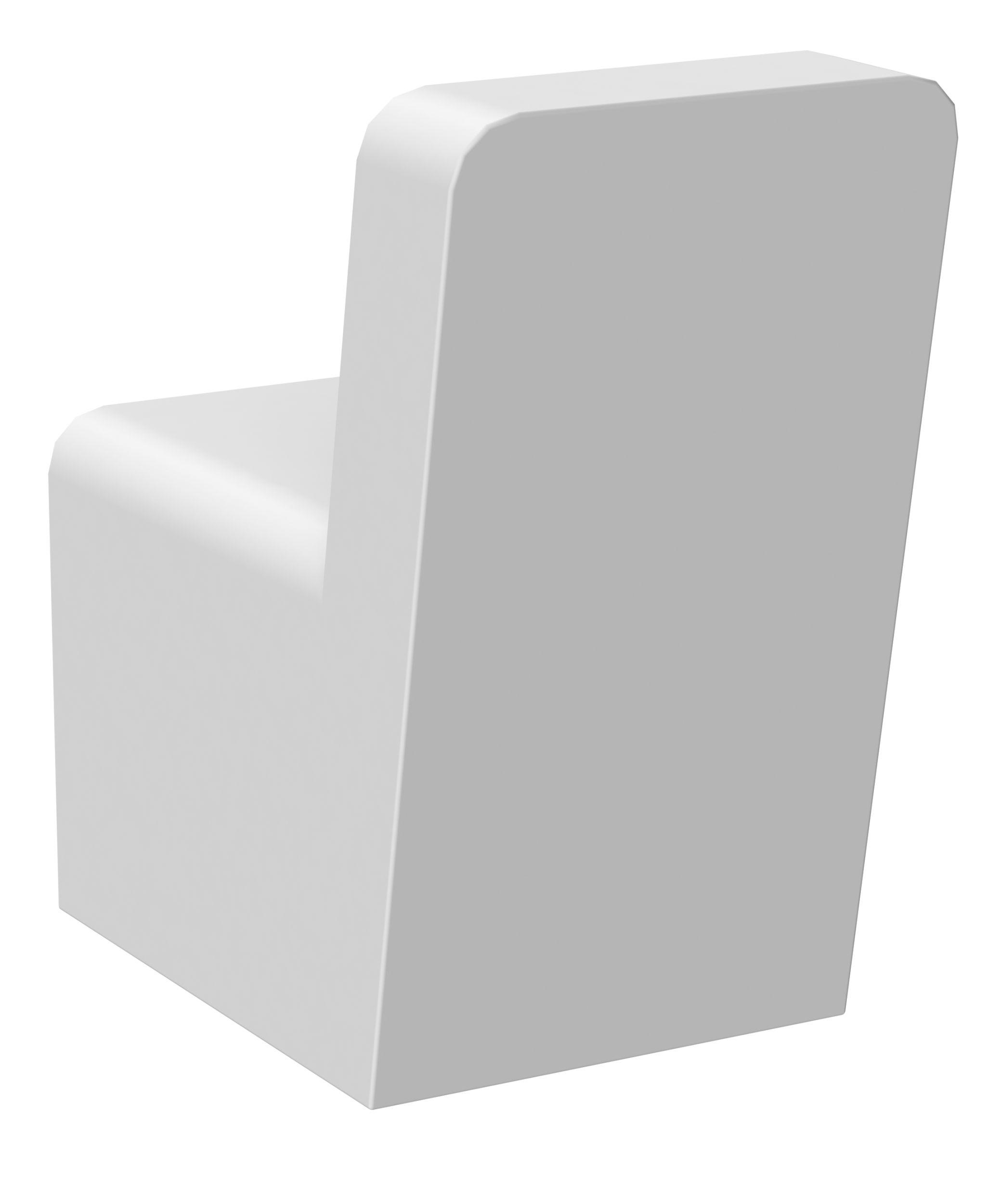 Patère en alu laqué blanc