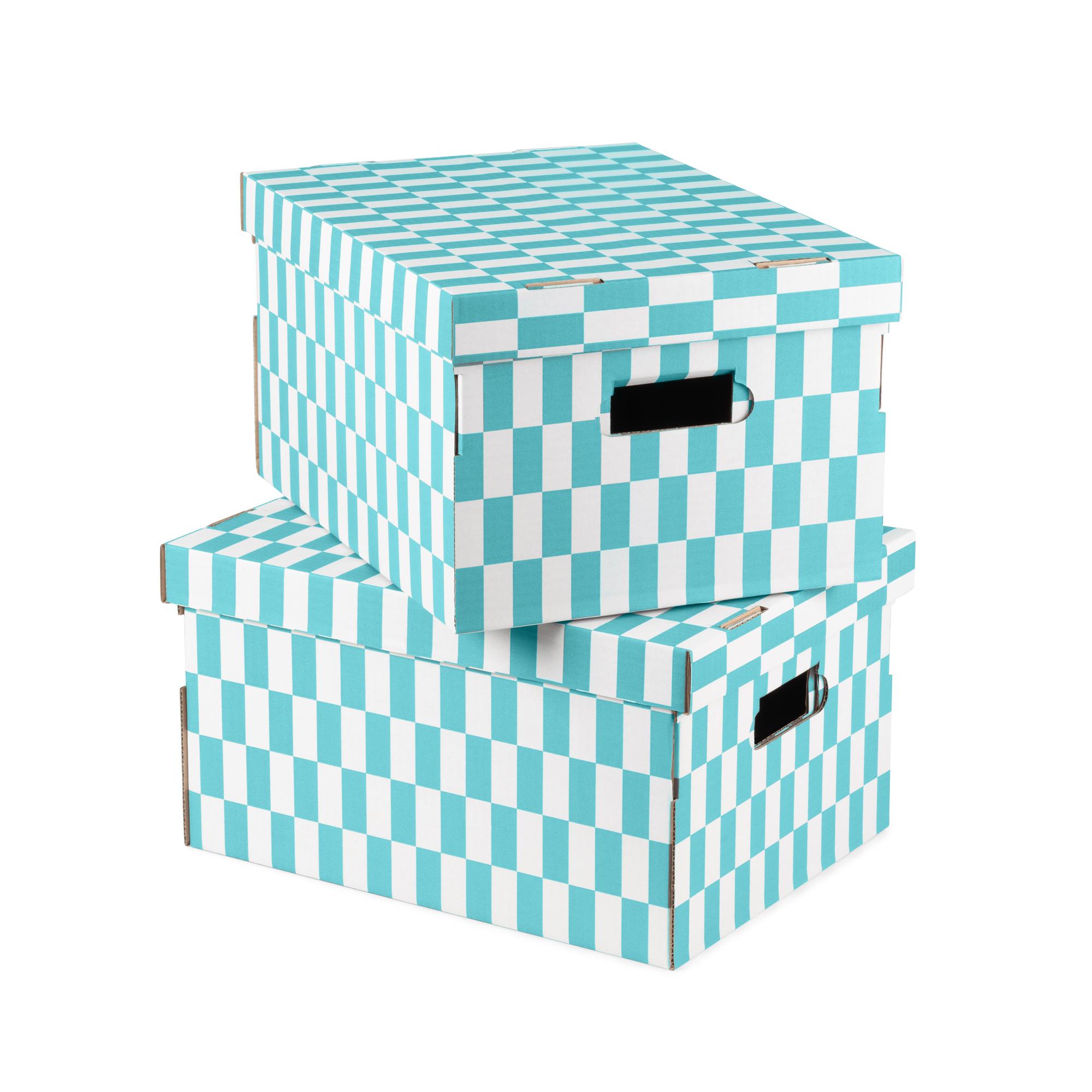 Boîte de rangement en carton 40x31cm - Lot de 2