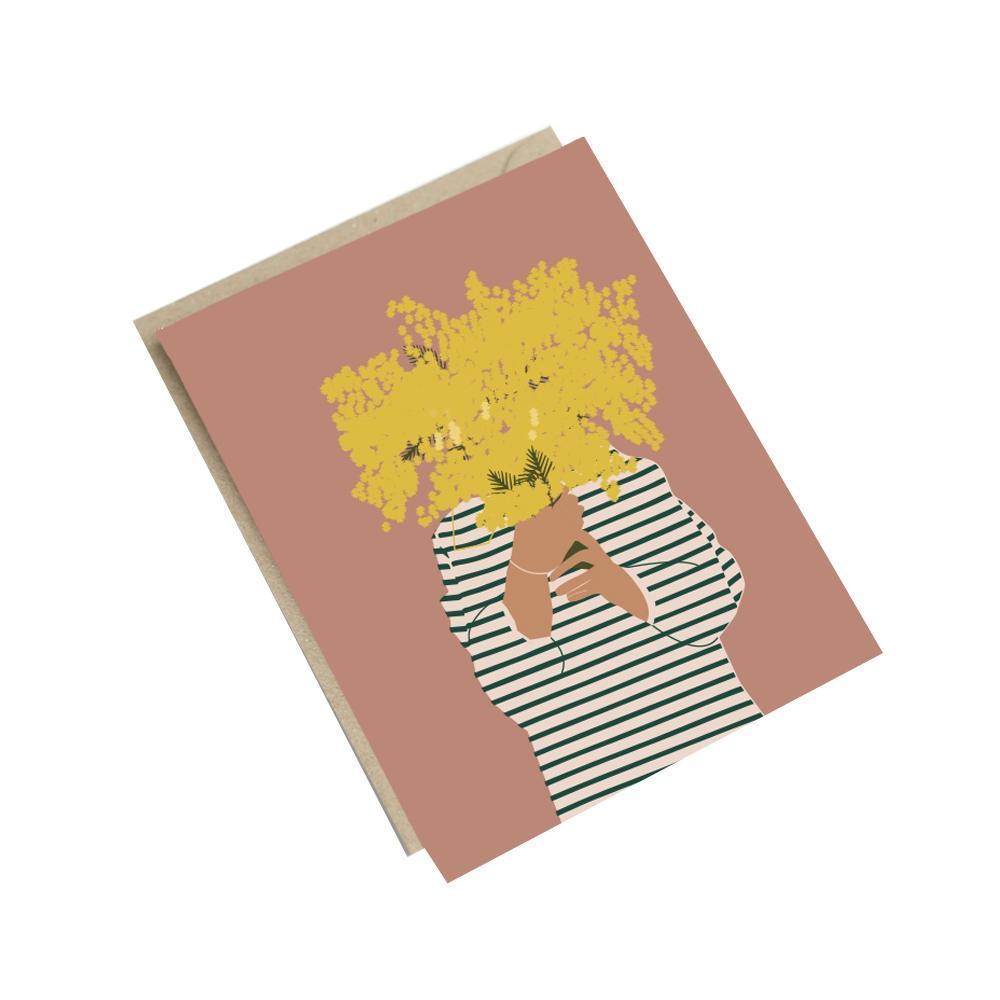 Carte mimosa A6
