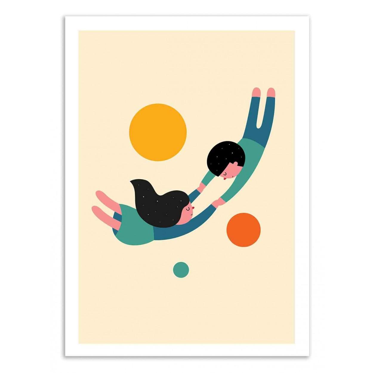 WON'T LET GO - Affiche d'art 50 x 70 cm
