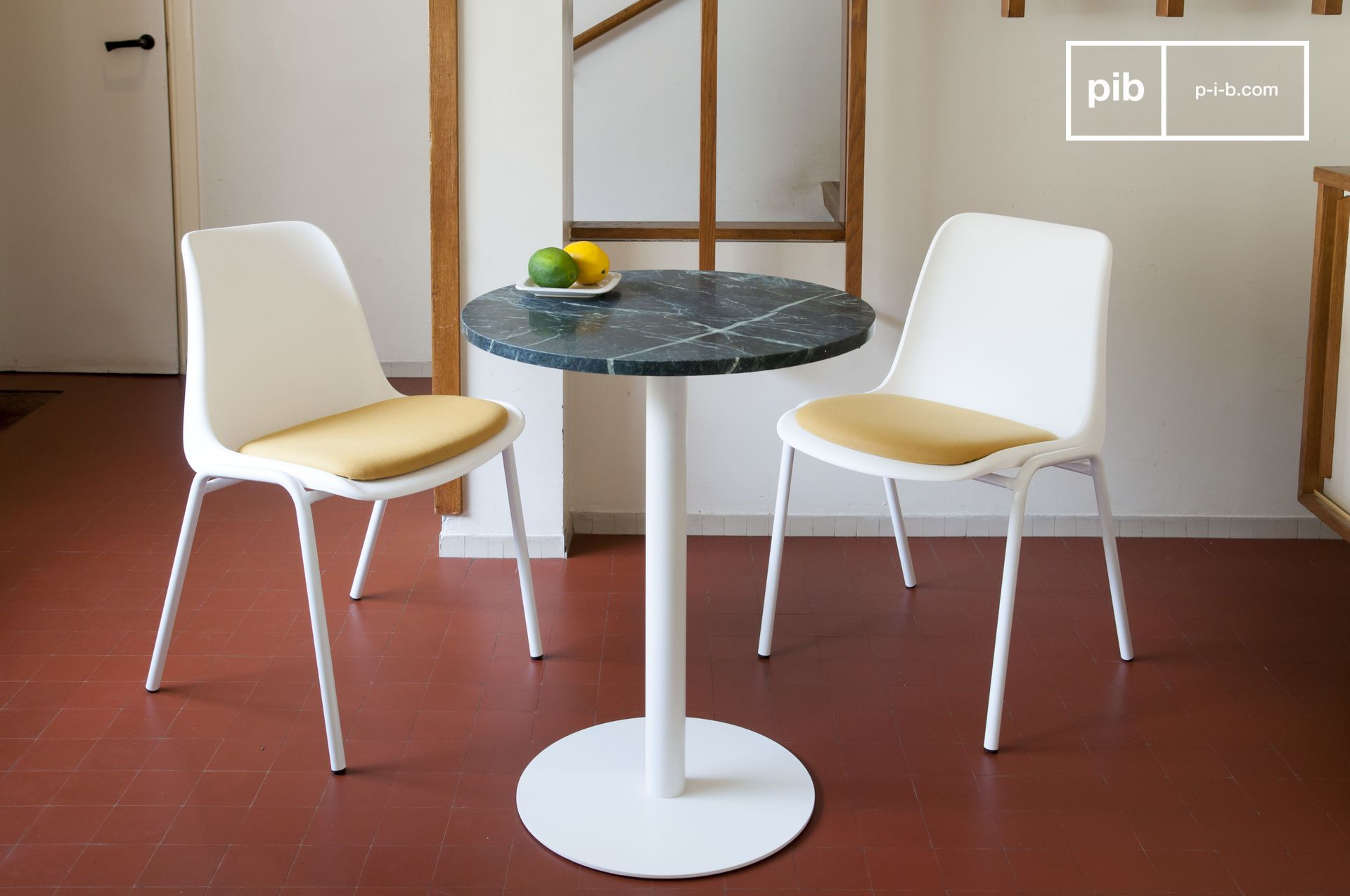 Table bistrot en mabre vert