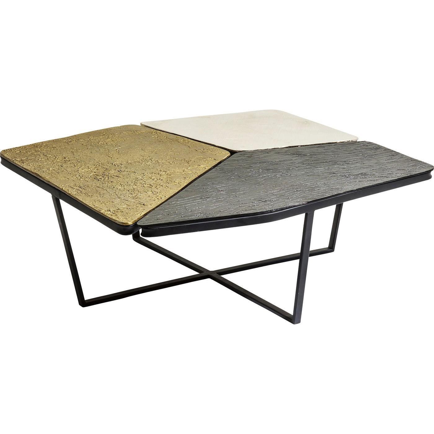 Table basse en acier et aluminium